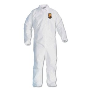 Kleenguard A40 Particle Protection Coverall, 4XL, White, 25 Coveralls (KCC44317)