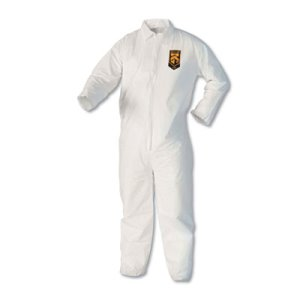Kleenguard A40 Protective 2XL Coveralls, White, 25 Coveralls (KCC44305)