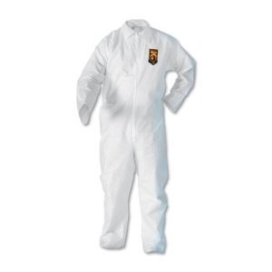 KleenGuard A20 Breathable Particle Protection Coveralls, XL, White (KCC49004)