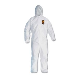 KleenGuard A20 Particle Protection Coveralls, XL, White (KCC49114)
