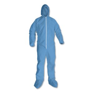 KleenGuard A65 Hood & Boot Flame-Resistant Coveralls, Blue, 3XL (KCC45356)