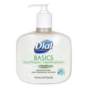 Dial Basics Fresh Floral Liquid Soap, 16 Ounces, 12 Pump Bottles (DIA06044)