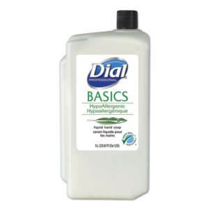 Dial Hypoallergenic Liquid Soap, White, Honeysuckle, 8 Refills (DIA06046)