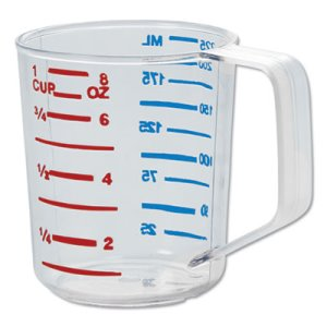 Rubbermaid Commercial Bouncer Measuring Cup, Clear, 8oz, Clear (RCP3210CLE)