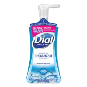 Dial Foaming Antibacterial Hand Wash, 7.5 oz Pump, Spring Water, Each (DIA05401)