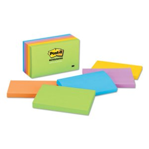 Post-it Notes Jaipur Color Notes, 3 x 5, Assorted, 5 Pads (MMM6555UC)