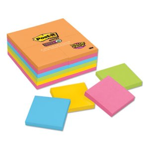 Post-it Notes Super Sticky Pads in Rio de Janeiro Colors, 24 Pads (MMM65424SSAU)