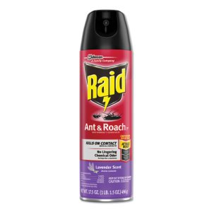 Raid Ant and Roach Killer, 17.5 oz Aerosol, Lavender, 12 Cans (SJN660549)