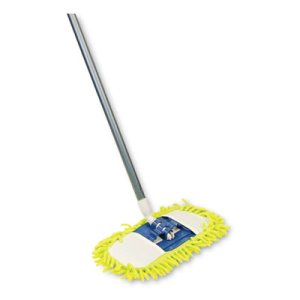 "Quickie Microfiber Dust Mop, 48"" Steel Handle, Green, Each (QCK060)"