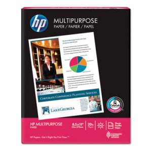 HP MultiPurpose20 Paper, White, 96 Bright, 20lb, Letter, 10 Reams (HEW112000CT)
