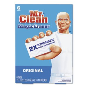 Mr. Clean Magic Eraser, Original, White, 6/Pack, 36 Erasers (PGC79009)