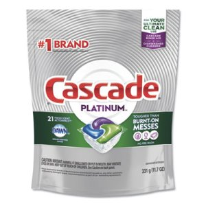 Cascade ActionPacs, Fresh Scent, 11.7 oz Bag, 21/Pack, 5 Packs/Carton (PGC80720)