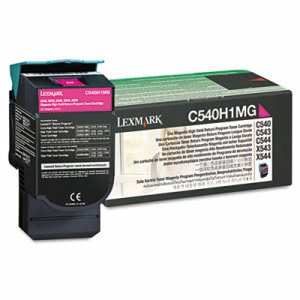 Lexmark C540H1MG High-Yield Toner, 2000 Page-Yield, Magenta (LEXC540H1MG)