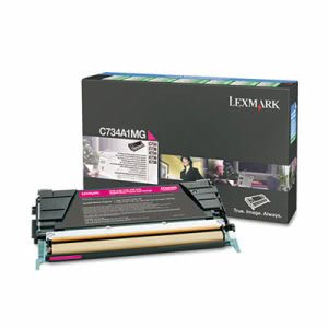 Lexmark C734A1MG Toner, Return Program, 6000 Page-Yield, Magenta (LEXC734A1MG)