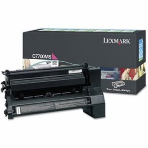 Lexmark C7700MS Toner Cartridge, 6000 Page-Yield, Magenta (LEXC7700MS)
