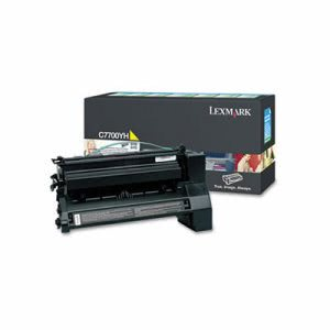 Lexmark C7700YH High-Yield Toner, 10000 Page-Yield, Yellow (LEXC7700YH)