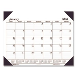 Doolittle Refillable Monthly Desk Pad Calendar, 22 x 17, Black, 2020 (HOD124)
