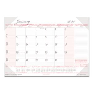 House of Doolittle Breast Cancer Awareness Monthly Desk Pad Calendar, 18-1/2 x 13, 2020 (HOD1466)
