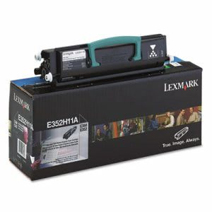 Lexmark E352H11A High-Yield Toner, 9000 Page-Yield, Black (LEXE352H11A)