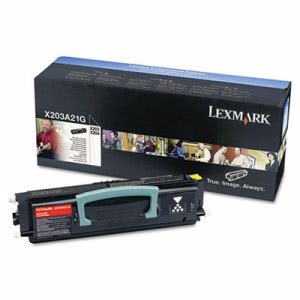 Lexmark X203A11G Toner Cartridge, 2500 Page-Yield, Black (LEXX203A11G)