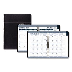 Doolittle Weekly & Monthly Tabbed Calendar Planner, Black, 2021 (HOD28302)