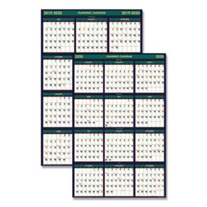 Doolittle Academic 4 Seasons Reversible Wall Calendar, 2020-2021 (HOD390)