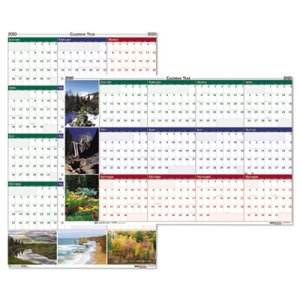 Doolittle Laminated Wipe-Off Reversible Wall Calendar, Earthscapes, 2021 (HOD393)