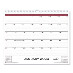 Blue Sky Classic Red Wall Calendar, 15 x 12, 2020 (BLS111292)