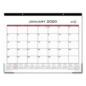 Blue Sky Classic 22 x 17 Red Desk Pad, 2020, Each (BLS111294)