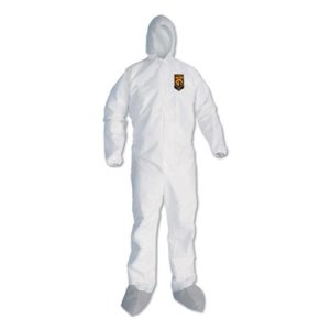 Kleenguard A45 Protection Coveralls, 3XL, White, 25 Coveralls (KCC48976)