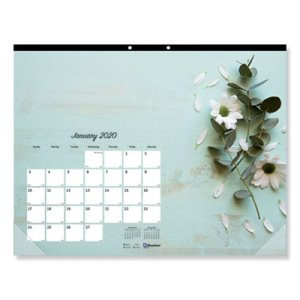 Blueline Romantic 2020 Monthly Calendar, 17 3/4 x 10 7/8, Each (REDC195112)
