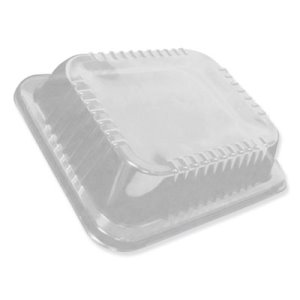 Durable Oblong Containers Packaging Dome Lids, Low Dome, 100 Lids (DPKP4300100)