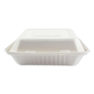 Boardwalk Bagasse 3-Compartment Container, 200 Containers (BWKHINGEWF3CM9)