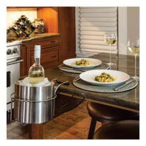 C-line Wine By Your Side, Steel Frame, Wine Adapter/Ice Bucket, Each (CLI20014)