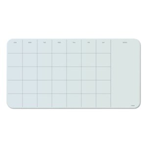 U Brands Glass Dry Erase Undated Four Week Calendar Board, Each (UBR3687U0001)