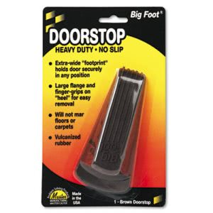 Big Foot Doorstop, Rubber Material, Brown, 12 Doorstops (MST 00920)