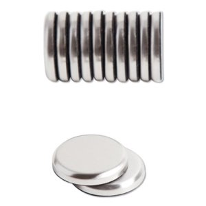 "U Brands High Energy Magnets, Circle, Silver, 1.25"" Dia, 12/Pack (UBR2911U0012)"