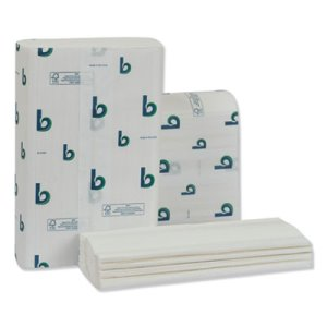 Boardwalk Structured Multifold Towels, 1-Ply, White, 16 Packs (BWK6204)