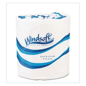 Windsoft Bath Tissue, Septic Safe, 2-Ply, 4.5 x 4.5, White, 96 Rolls (WIN2200B)