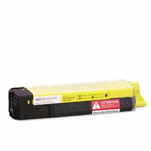 Media Sciences MDAMSOK5855YHC New Build Toner, Yellow (MDAMSOK5855YHC)