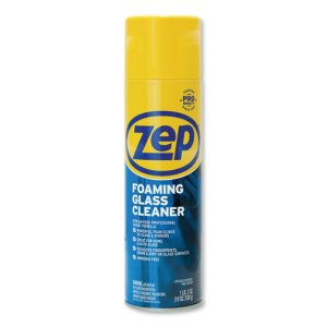 Zep Commercial Foaming Glass Cleaner, 19 oz Aerosol, Mint Scent (ZPEZUFGC19EA)