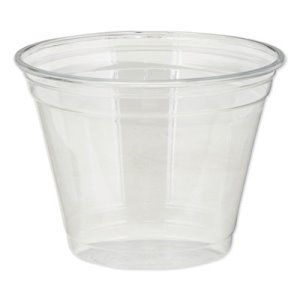 Dixie Plastic PETE Cups, Cold, 9 oz, Clear, 1000 Cups (DXECPET9)