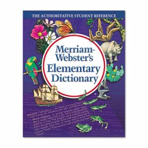 Merriam Webster Elementary Dictionary, Grades 2-4, Hardcover, 624 Pages (MER675)