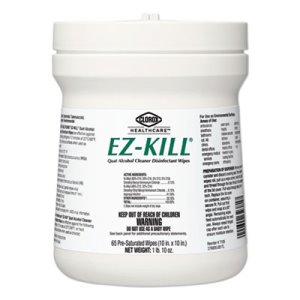 "Clorox Healthcare EZ-Kill 10"" Disinfectant Wipes, 65/Can, 12 Cans (CLO32381)"