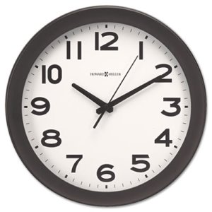 "Howard Miller Kenwick Wall Clock, 13-1/2"", Black, 1 Each (MIL625485)"