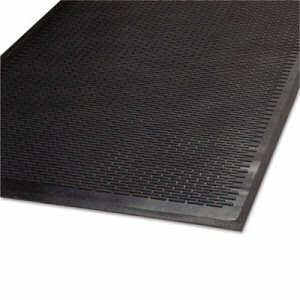 "Guardian Clean Step Outdoor Rubber Scraper Mat, 36""x60"", Black (MLL14030500)"