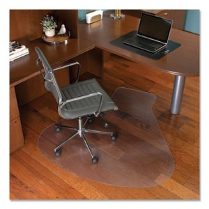 Es Robbins EverLife Workstation Chair Mat for Hard Floors, With Lip, 66 x 60, Clear (ESR132775)