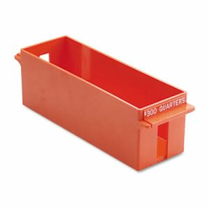 Porta-Count Extra-Capacity Rolled Coin Storage Tray, Orange (MMF212072516)