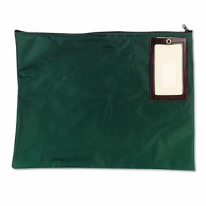 Mmf Industries Cash Transit Sack, Nylon, 18 x 14, Dark Green (MMF2341814N02)