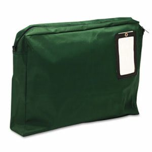 MMF Industries Expandable Dark Green Transit Sack, 18w/14h/4d (MMF2342814L02)
